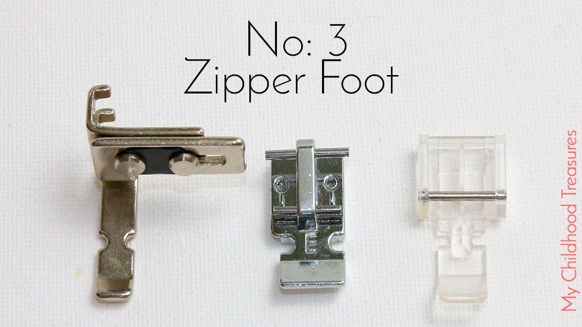 zipper sewing machine foot