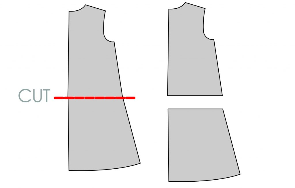 How to Lengthen a Pattern - Slashing