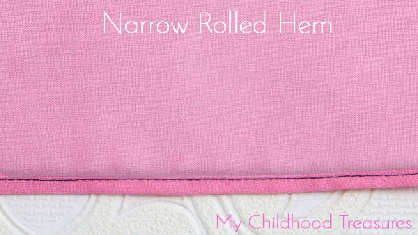 narrow rolled hem