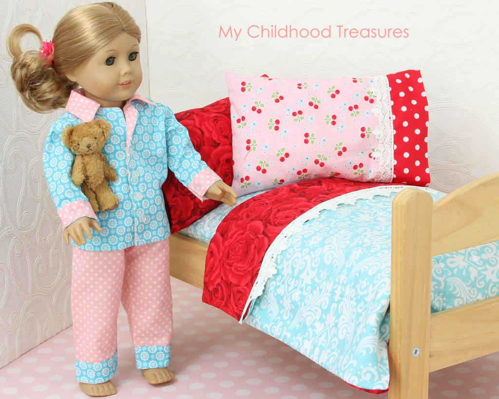 how to make doll bedding