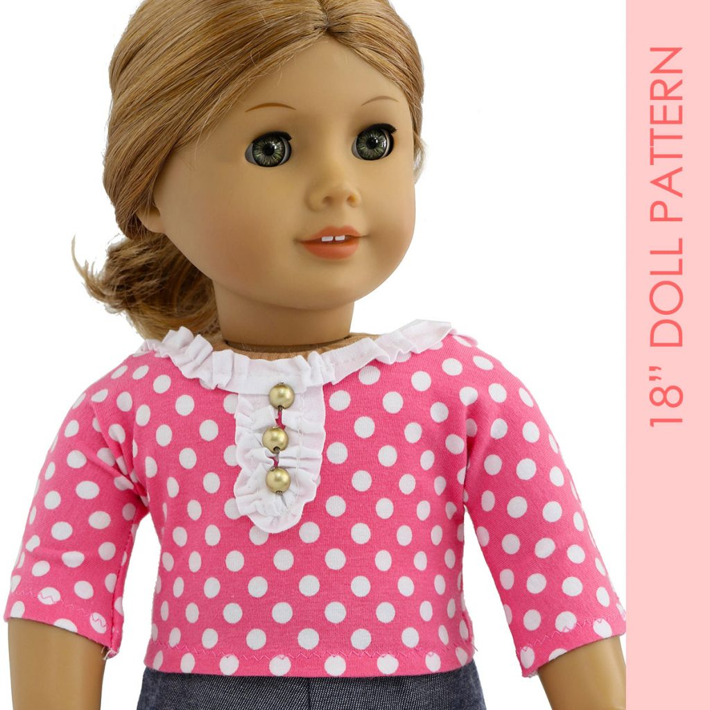 free doll clothes pattern, doll tshirt pattern
