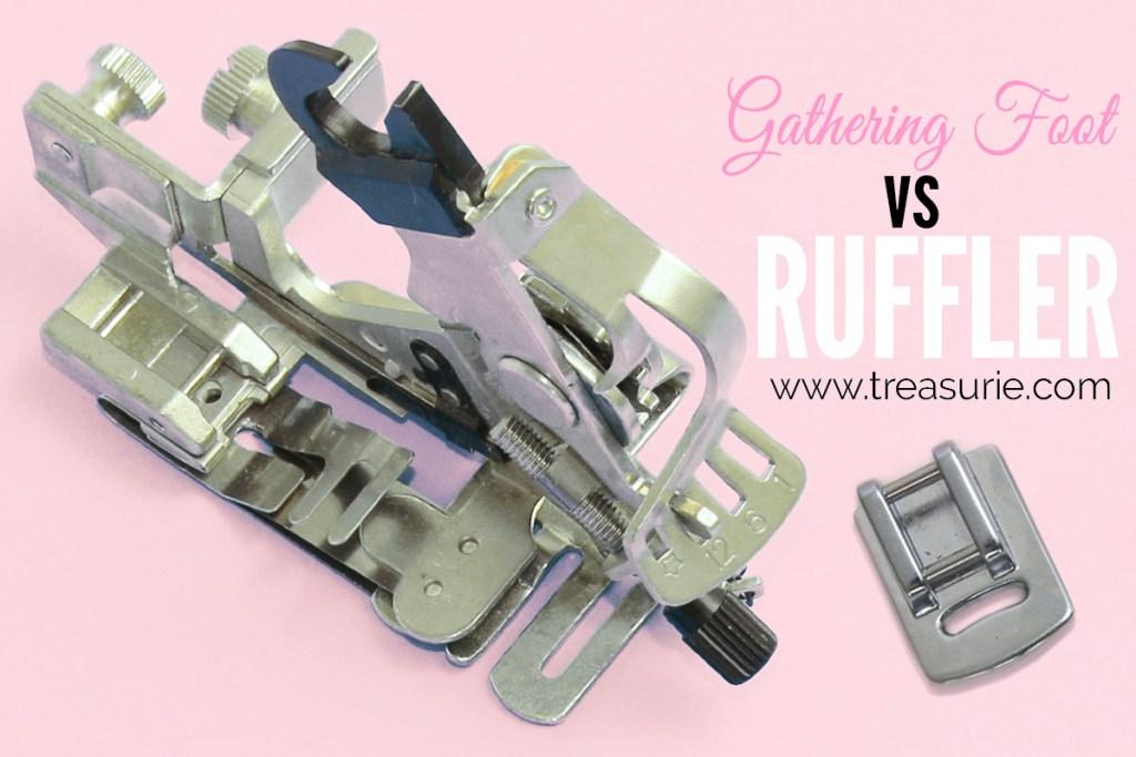 gathering foot vs ruffler