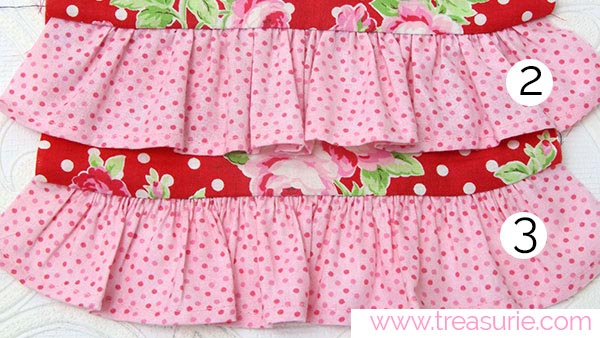 How to Gather Fabric - 2 Rows vs 3 Rows