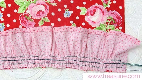 How to Gather Fabric with 3 Rows
