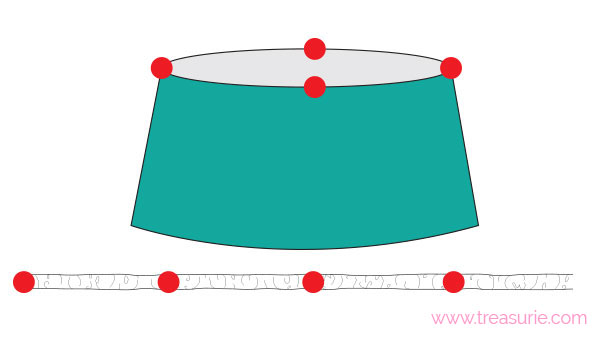 how to gather knit fabric step 2