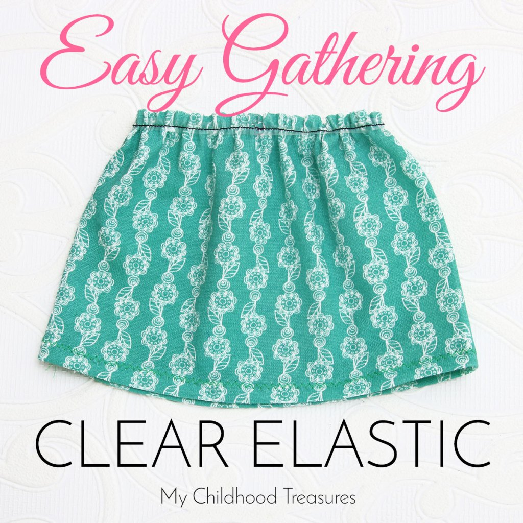 how to gather knit fabric with clear elastic