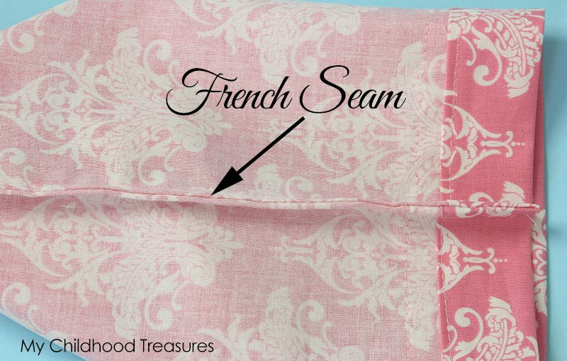 pillowcase pattern- how to make a pillowcase with French Seams
