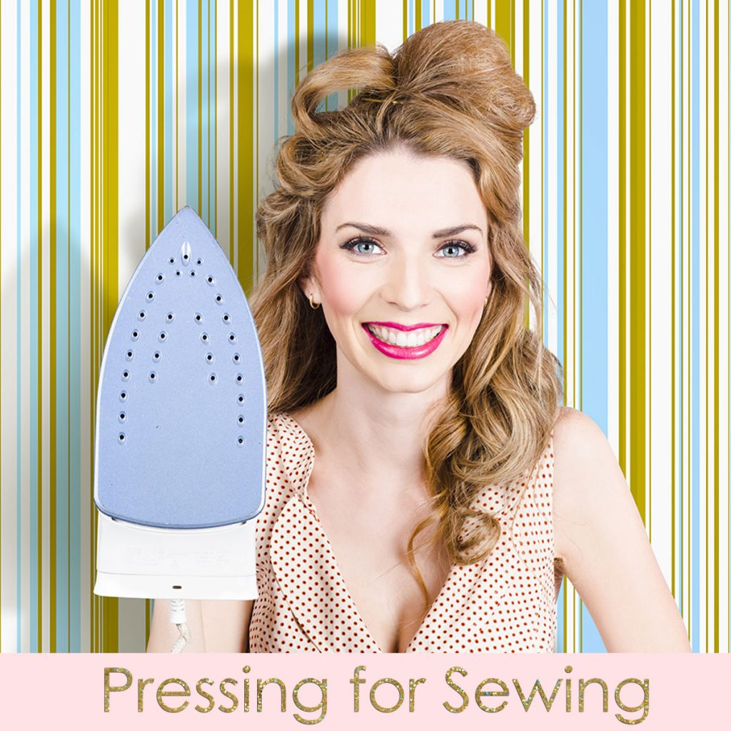 pressing fabric for sewing, pressing vs ironing
