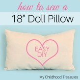how to make a doll pillow