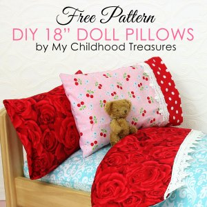 how to make doll pillows