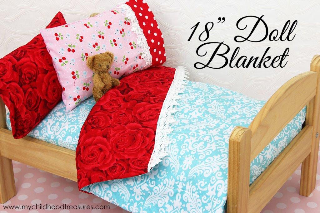 Doll Blanket Pattern FREE Doll Bedding Tutorial TREASURIE Enchanting 18 Doll Sewing Machine