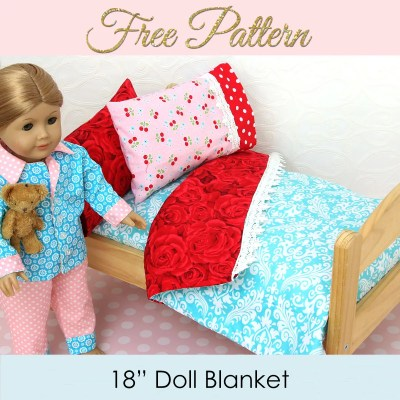 Doll Blanket Pattern – FREE Doll Bedding Tutorial