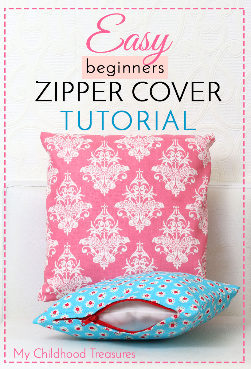 How To Make Zippered Cushion Covers For Beginners Treasurie