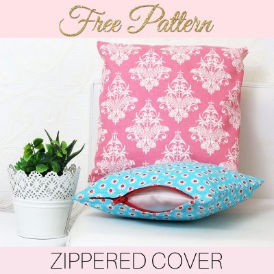 how to sew a cushion cover, zippered cushion cover