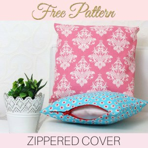 how to sew cushion covers, zippered cushion cover