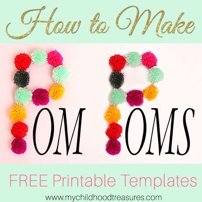 How to Make Pom Poms: FREE Template Printable