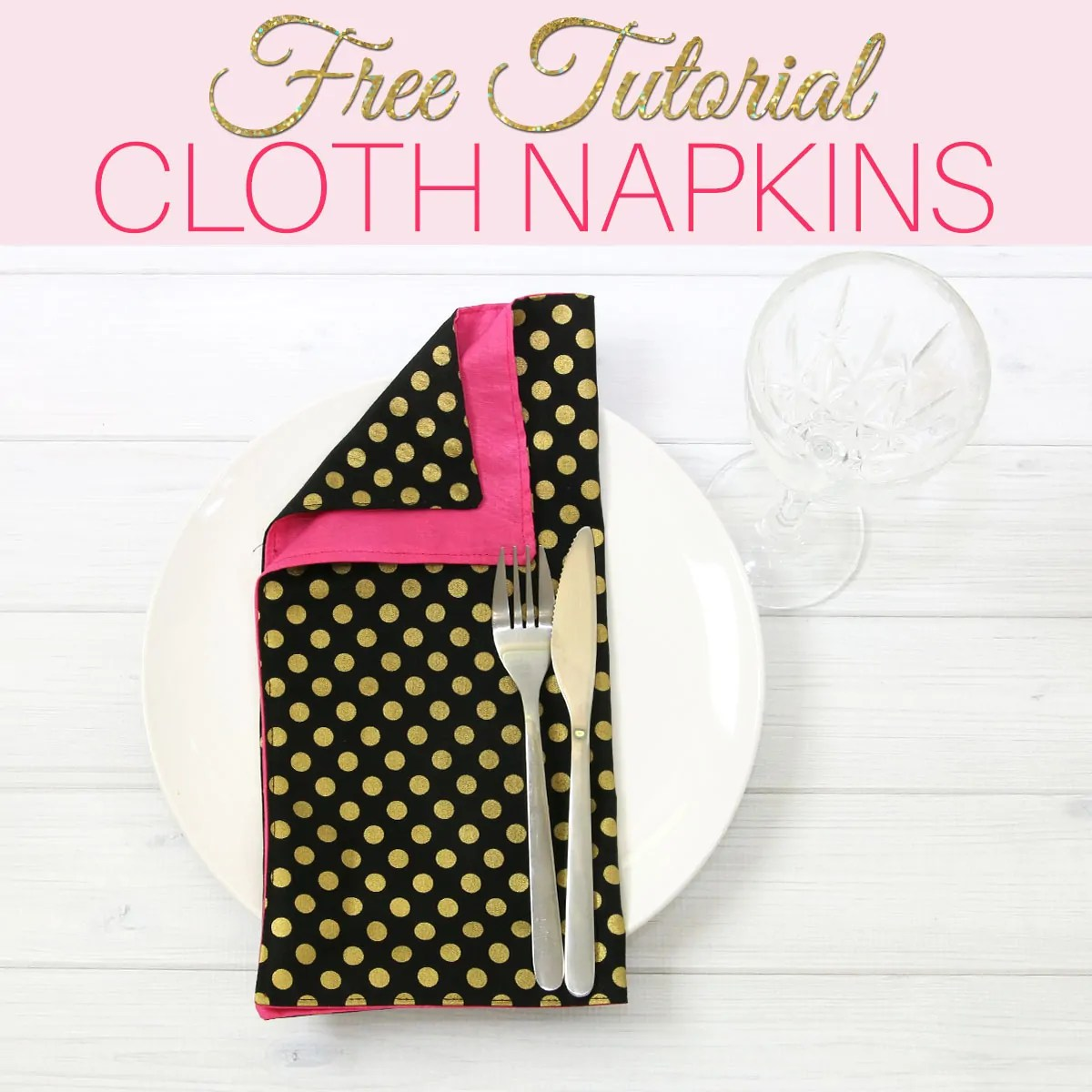 How to Make Cloth Napkins - Reversible Napkins in 5 minutes |TREASURIE