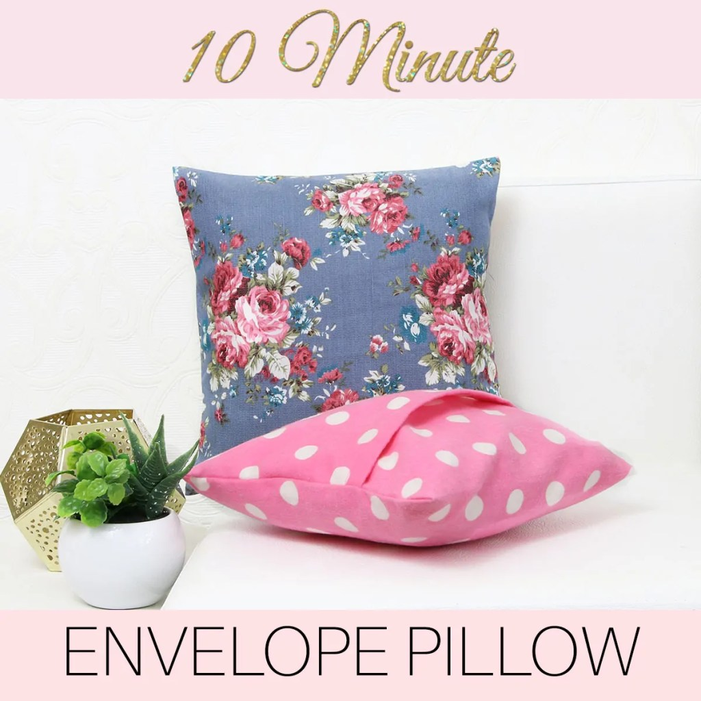 how to make cushion covers, envelope pillow
