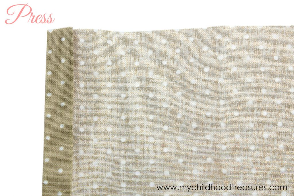 How to Make Napkins - First Side
