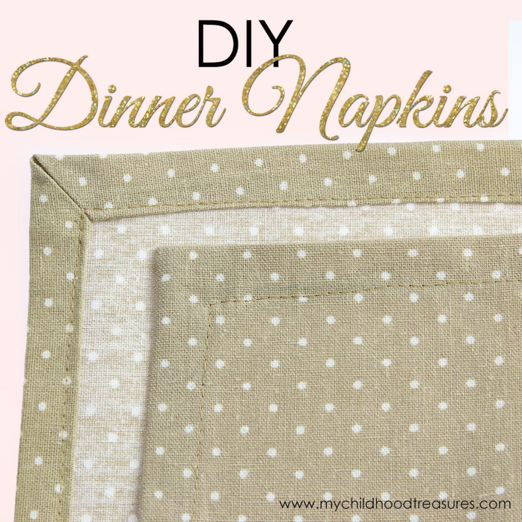 How to Make Napkins with Mitered Corners