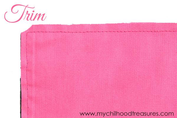 how to make cloth napkins step 2