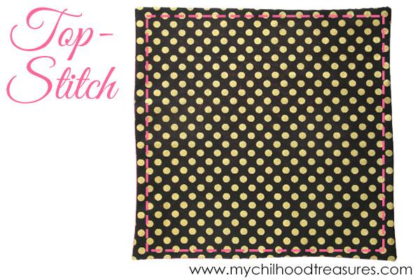 how to make cloth napkins step 4