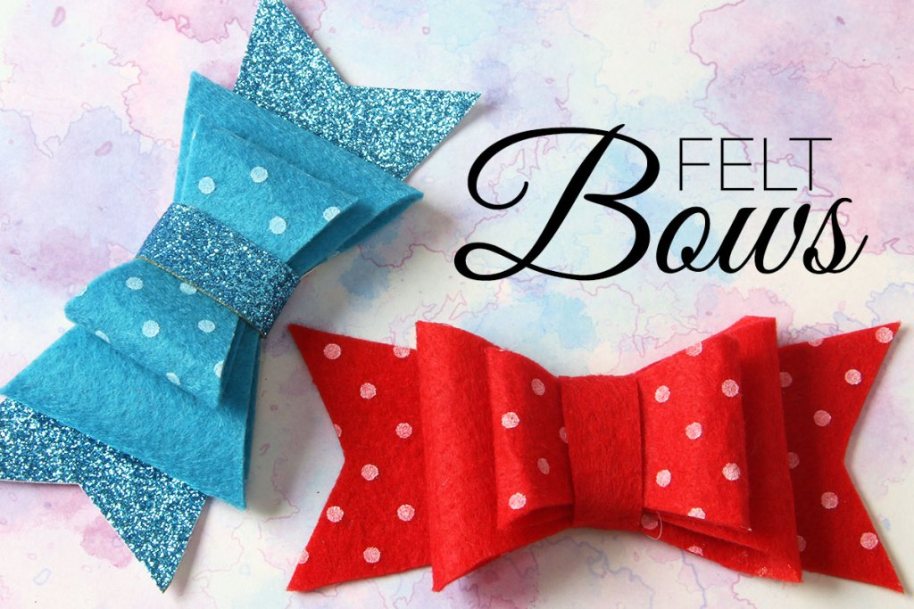 DIY Felt Bow - With FREE Printable Pattern |TREASURIE
