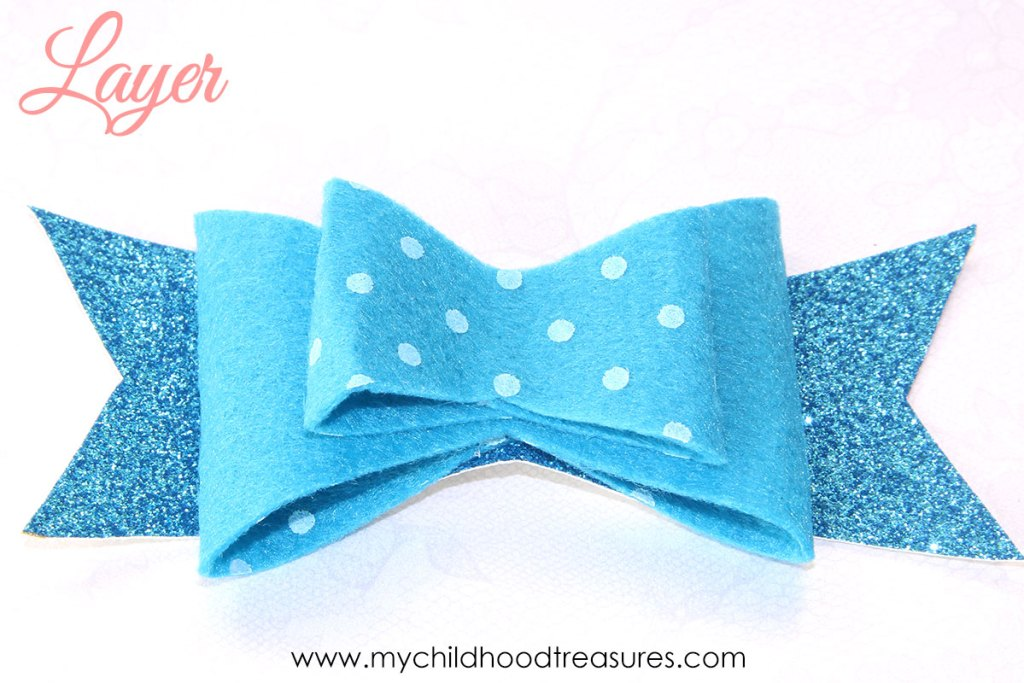 diy felt bow step 3