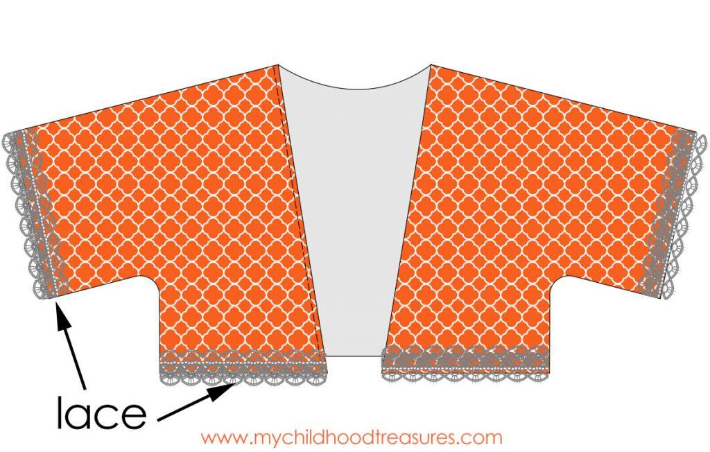 Kimono Jacket Pattern - Step 4