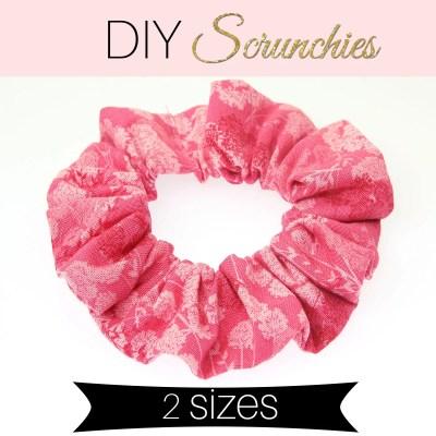 How to Make a Scrunchie – DIY Scrunchie in 2 sizes