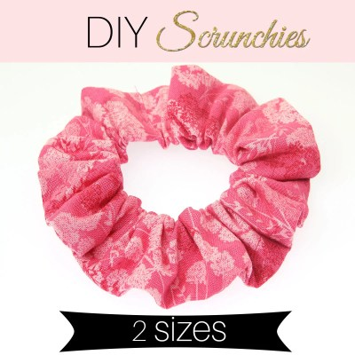How to Make a Scrunchie – DIY Scrunchie in 2 sizes