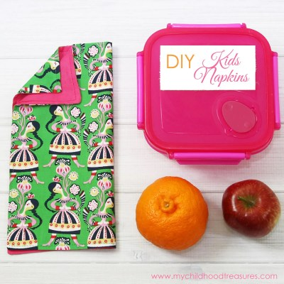 DIY Napkins- Kids Napkins for School Lunch Boxes
