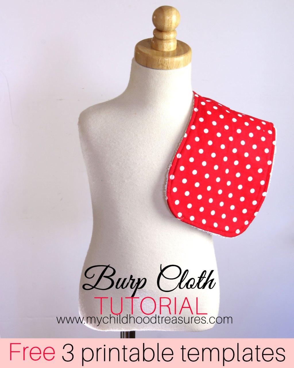 how to make a burp cloth