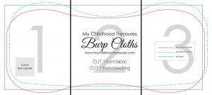 burp cloth pattern