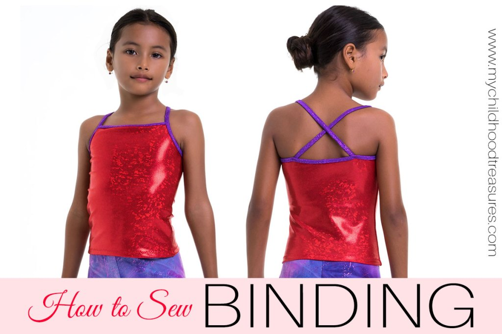 how to sew binding on leotards