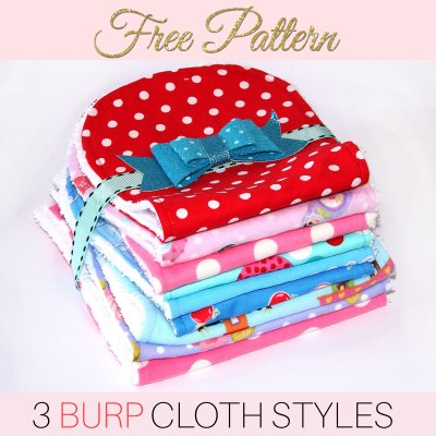 Burp Cloth Pattern – Free Printable Pattern for 3 Styles