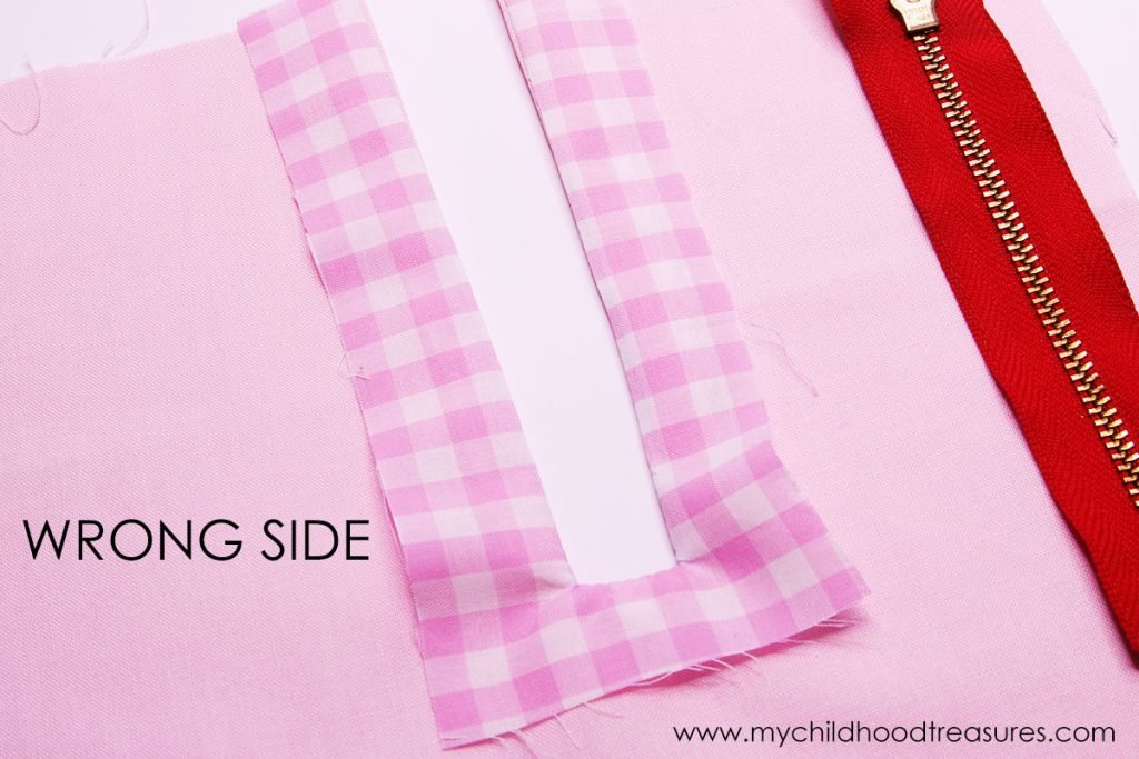 How to Sew an Exposed Zipper - Turn and Press
