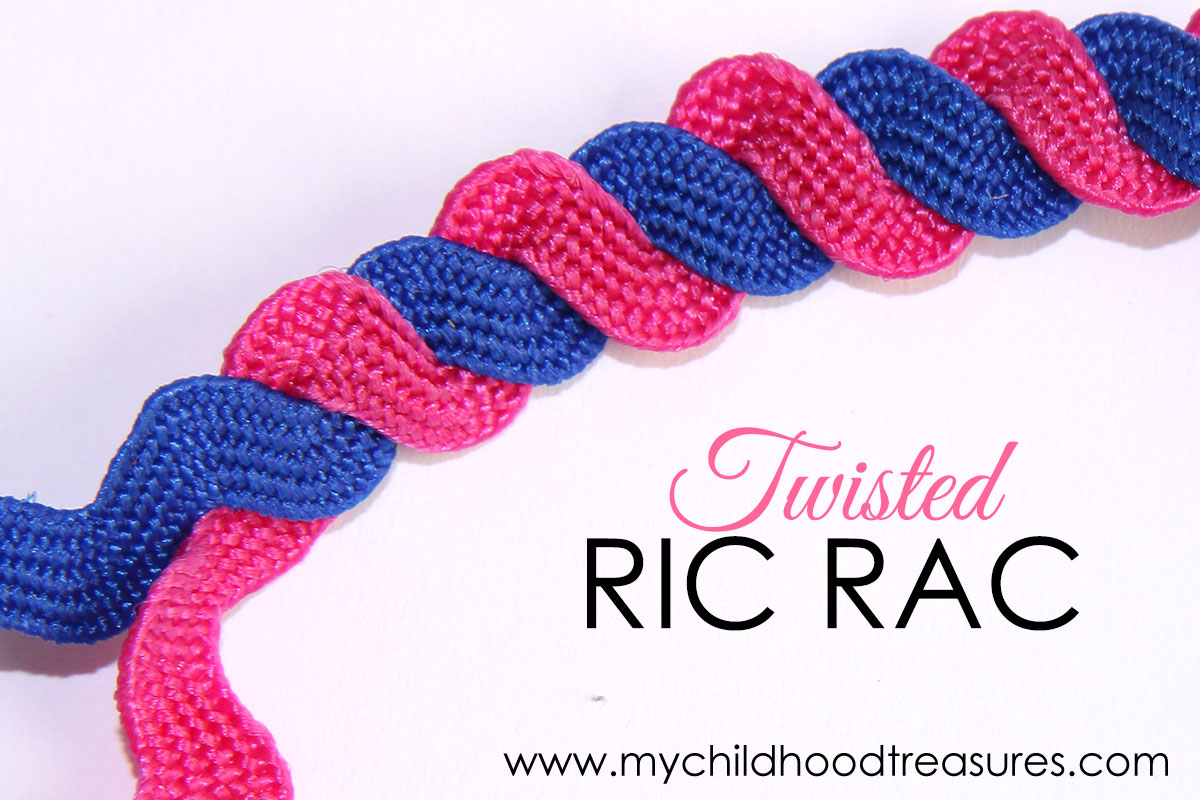 Sewing Ric Rac twisted