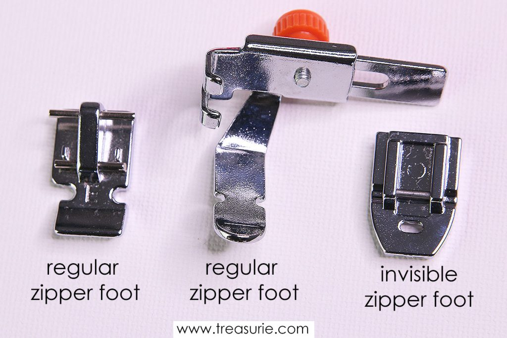 types of zipper foot