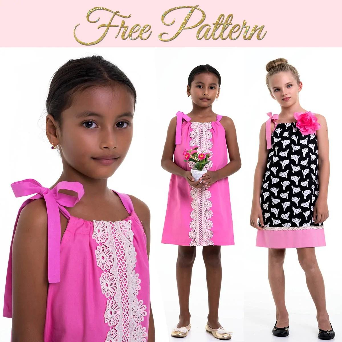 Pillowcase Dress Pattern Free Dress Pattern For Girls Treasurie