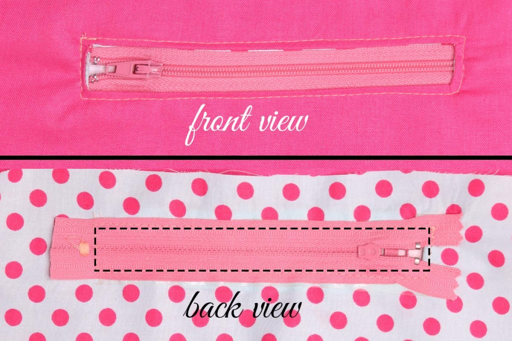 How to Sew a Zipper Pocket - Position