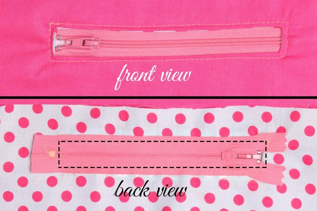 sew in the zipper