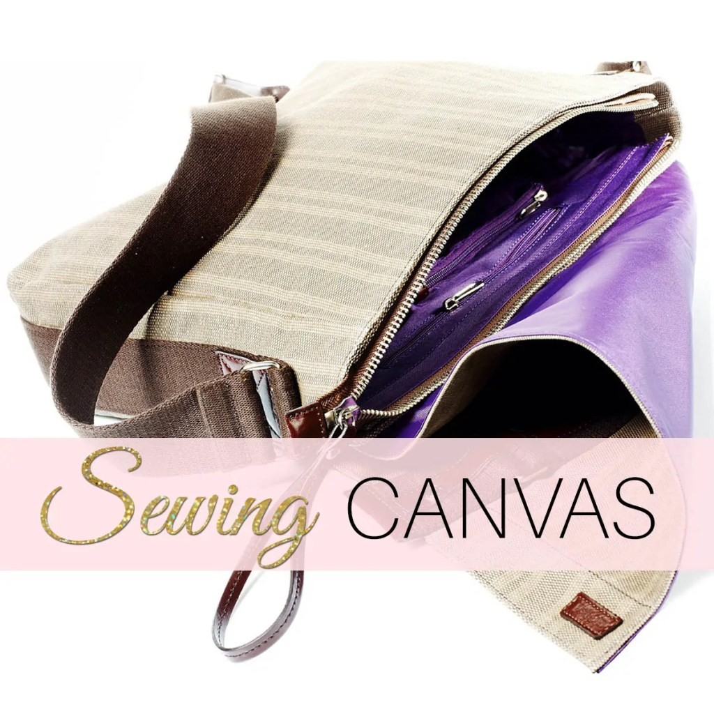 sewing canvas