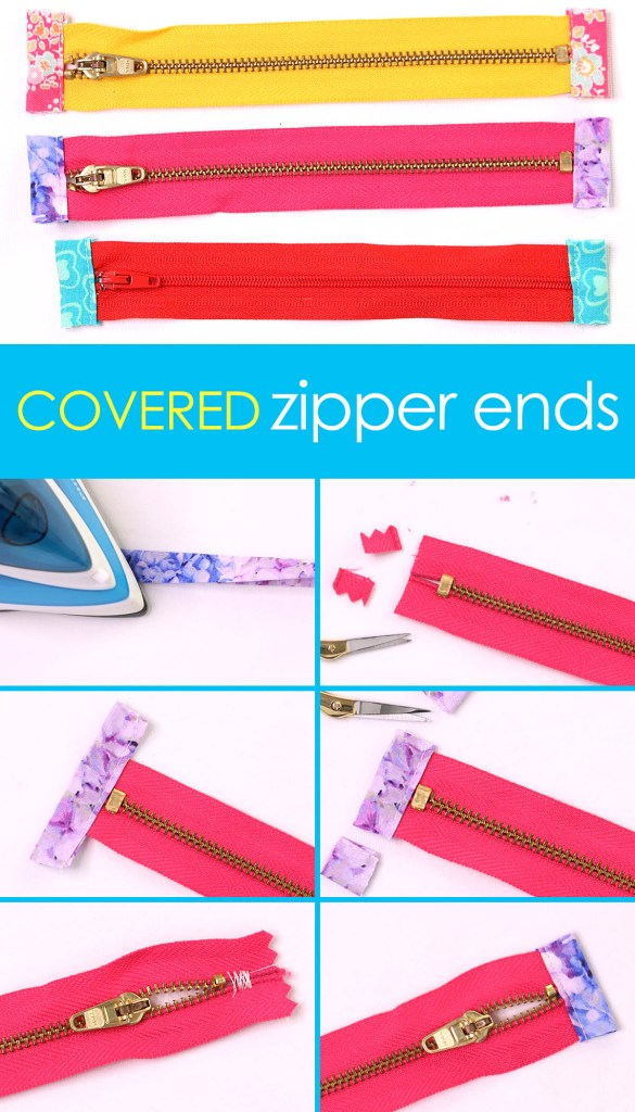 covered zipper ends