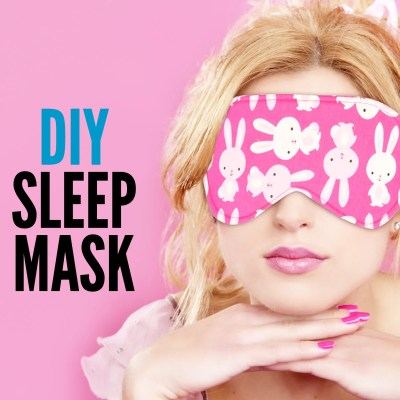 DIY Sleep Mask – Easy Tutorial With Free Pattern