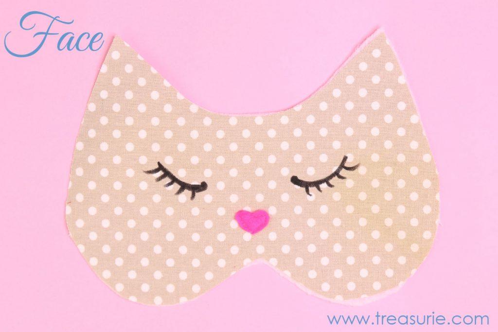 cat mask face , sleep mask template