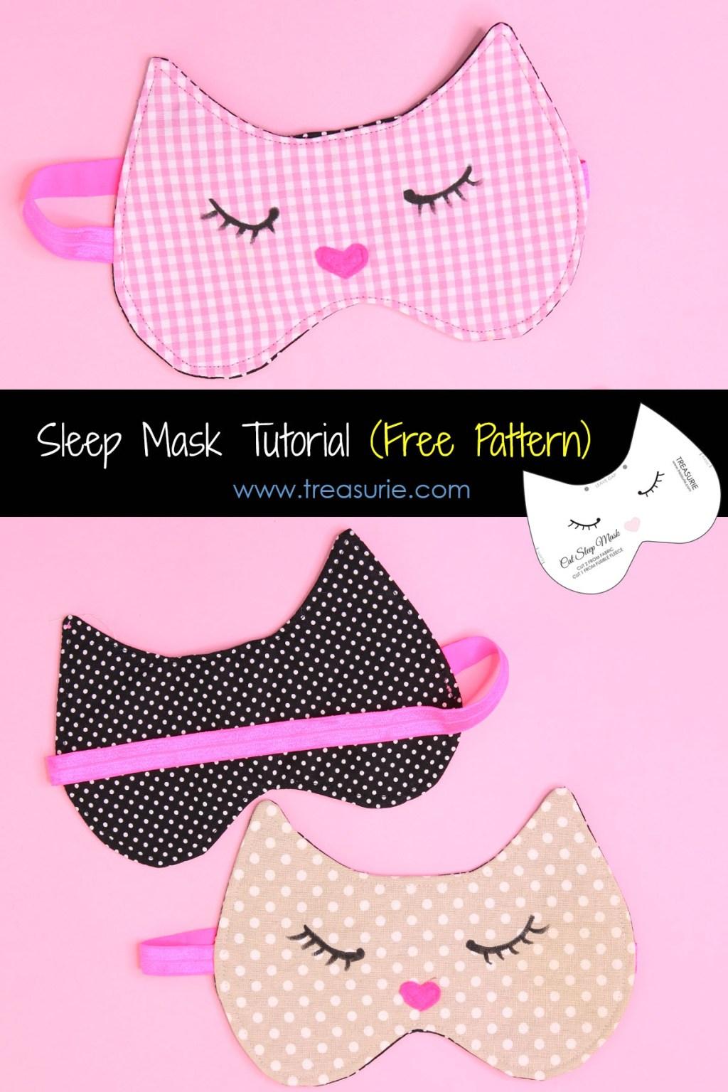 sleep mask tutorial, cat mask
