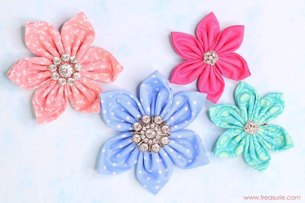 cloth fabric making, fabric flowers tutorial