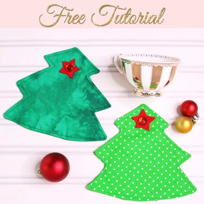 Christmas Coasters: Free Pattern Template
