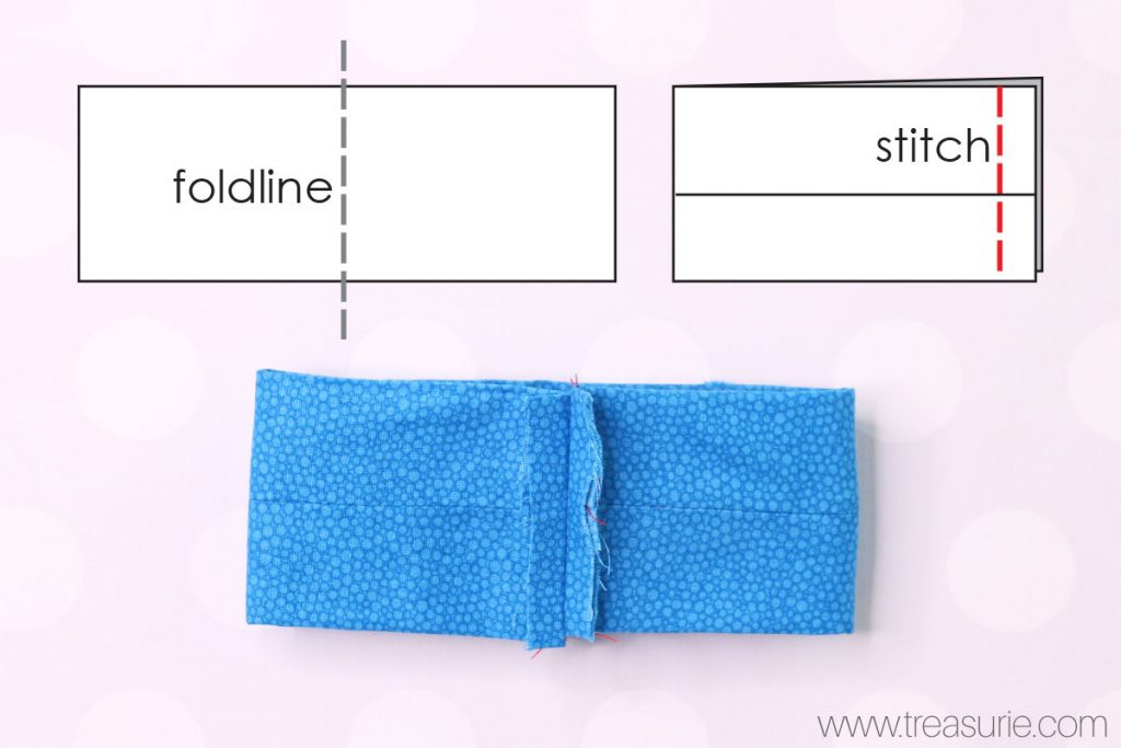 Large Fabric Bows Fold and Stitch